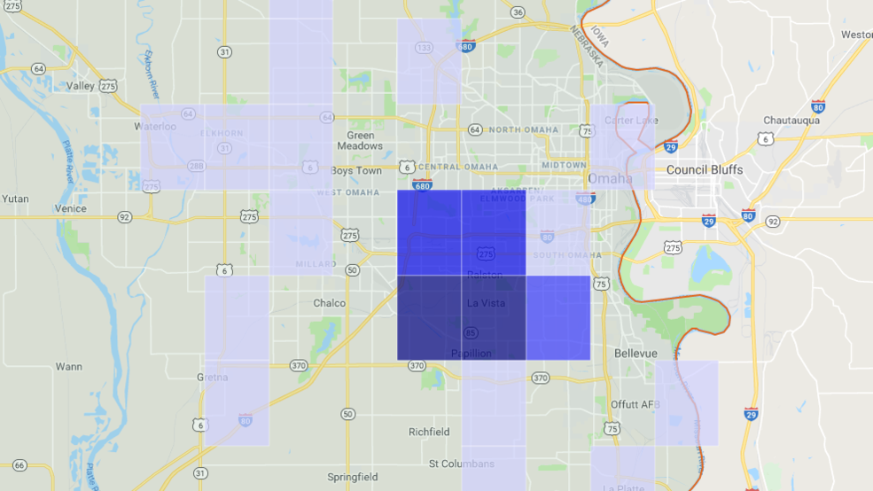 OPPD finds outage cause, power restored for all customers | KPTM on lockheed martin map, jea map, ipl map, smud map, epe map, wapa map,