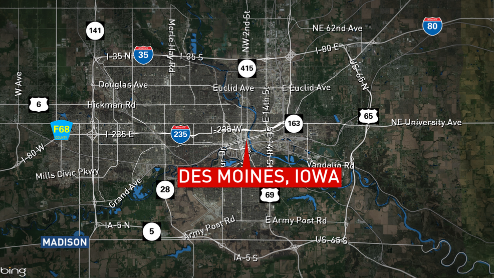 Police: 1 shot and killed, 7 wounded at Iowa biker gathering. (map: FOX 42)