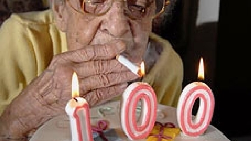 100 Year Old Celebrates Her Birthday By Smoking 170000th Cigarette